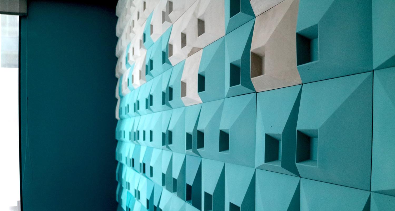 TEKT SQR1 3D wall tiles